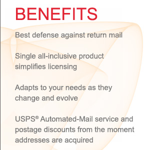 Benefits: AES systems Postal Software